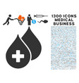 medical drops icon with 1300 medical business vector image
