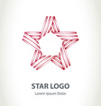 Star ribbon logo Corporate logotype template vector image