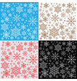 winter snowflakes background pattern vector image
