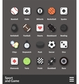 Flat material design icons set vector image