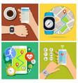 concept of smart watch vector image