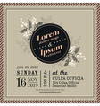Vintage Floral Wedding invitation border and frame vector image