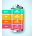 Battery infographic vector image vector image