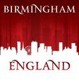 Birmingham England city skyline silhouette vector image vector image