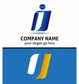 Letter J Company logo icon template vector image