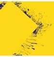 Splash yellow background vector image