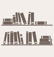 Book on the shelf vector image