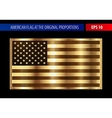 Gold American flag in a metallic frame vector image vector image