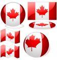 canada flags vector image vector image