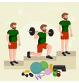 before and after weight loss men concept fitness vector image