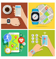 concept of smart watch vector image