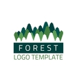 Forest logo template vector image
