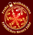 German Merry Christmas and New Year background vector image