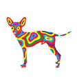 rainbow dog 7 vector image