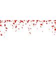 Red confetti celebration banner vector image