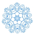rosette pattern of blue flowers vector image