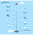 Timeline Communication Business Infographic vector image
