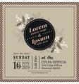 Vintage Floral Wedding invitation border and frame vector image