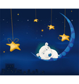 Fairy tale about a small hedgehog vector image