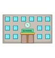 School icon cartoon style vector image
