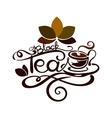 Lettering - Black Tea vector image vector image
