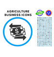 money exchange rounded icon with set vector image