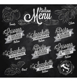 Menu Italian chalk vector image
