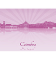 Coimbra skyline in purple radiant orchid vector image vector image