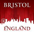 Bristol England city skyline silhouette vector image vector image