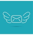 Envelope with wings vector image