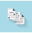 Flat web icon Newspaper vector image