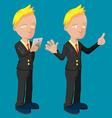 Old Business Man Cartoon Cute vector image