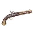 Dutch two barrel flintlock pistol by Johann Kuchen vector image