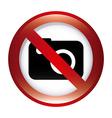 forbidden camera design vector image