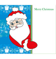 funny Santa Claus holding a frame place for text vector image