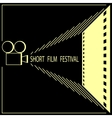 Short film festival cinema film festival poster vector image