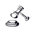 judge gavelsketch shape from vector image vector image