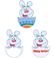 Cute Blue Bunny Collection vector image vector image