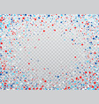 usa celebration confetti stars in national colors vector image