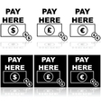 Pay here vector image