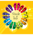 colorful slippers vector image vector image