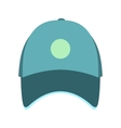 Blue baseball hat flat icon vector image vector image