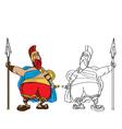Fat Roman cartoon vector image