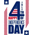 Happy Independence Day vertical background July vector image