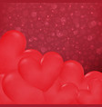 ccose up hearts in valentines day background vector image