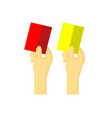 red and yellow card vector image