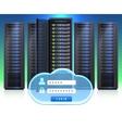 Server Racks Realistic Login Icon vector image