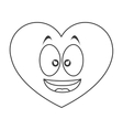 smiling heart cartoon icon vector image