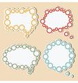 Speech bubbles of gears vector image