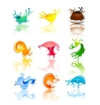 Splash colors waves vector image